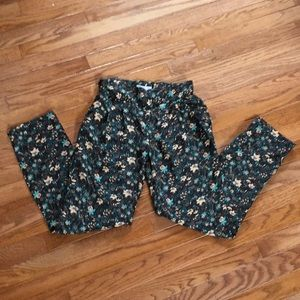 Beautiful Floral Cotton On Pants